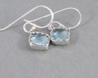 Silver Aquamarine,Earrings,Aquamarine Earrings,Birthstone,Birthstone Earrings,Aquamarine,Blue,Silver Earrings,Aqua.Handmade SeaMaidenJewelry