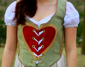 The Queen of Hearts Bodice - Ready to Ship!
