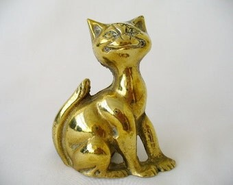19th c Victorian Brass Grinning Cheshire Cat Fireside Poker Stand