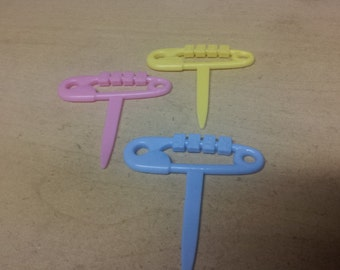baby pins cupcake picks