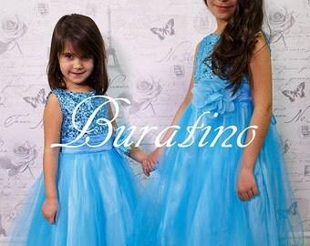 AQUA Flower girl dress, special occasion dress, girls dresses, navy, red, silver, black, gold sequin dress, flower girl dresses