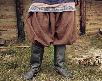 Viking baggy pants, trousers for reenactors, history, fantasy