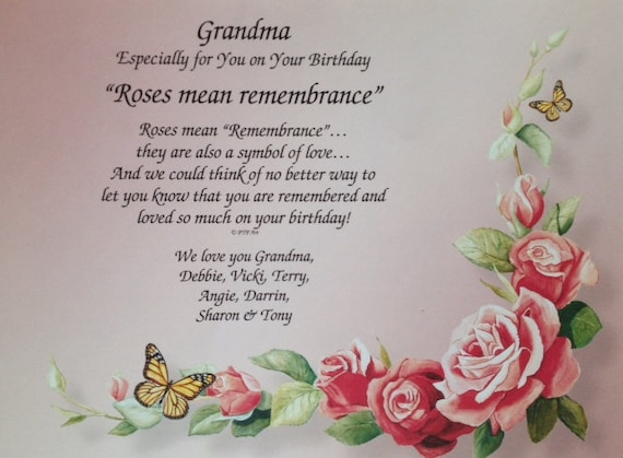 Gift for grandma grandmother sentimental by wepersonalizegifts for What to get grandma for her birthday
