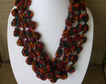 Jewel Tone Bubble Necklace/Scarf