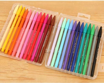 New Set of 24 color DIY painting drawing watercolor marker pen brush for text liner, scrapbook