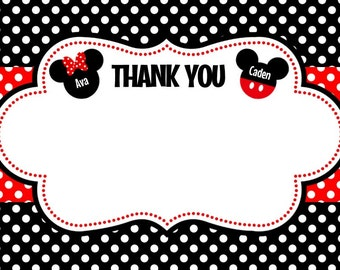 Mickey & Minnie Twins 2 Thank You