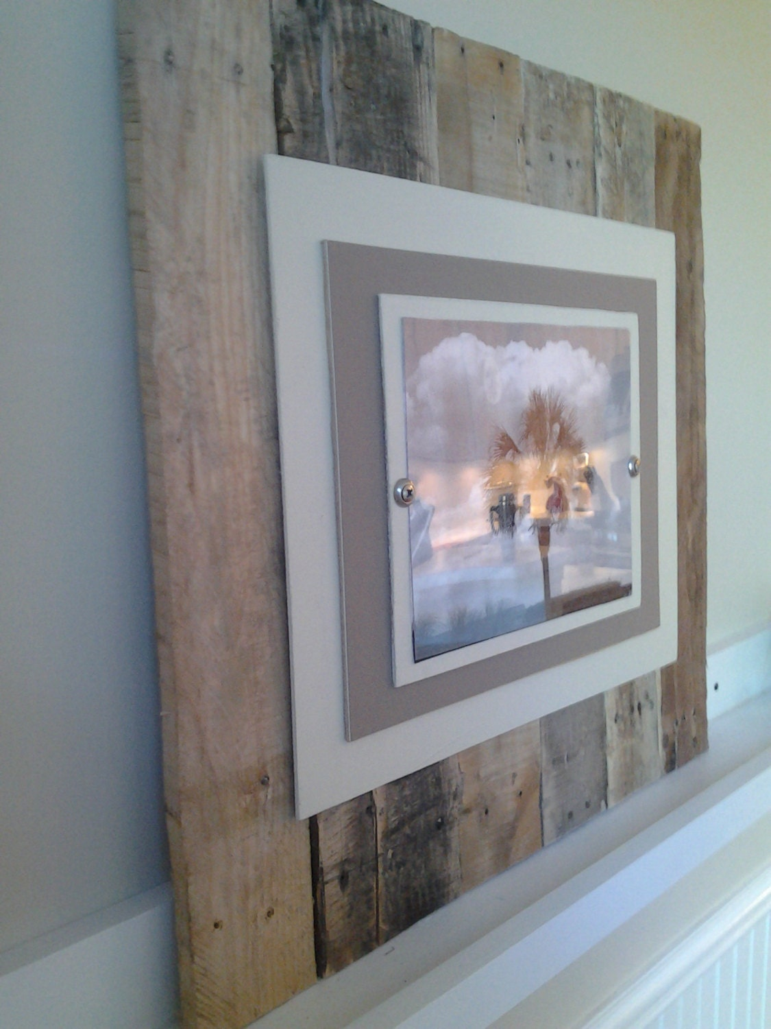 Reclaimed Wood Picture Frame Made to Order