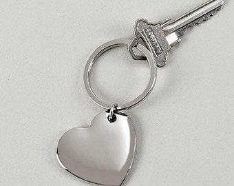 Cupid Heart key Ring.. Free Engraving