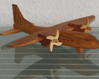Casa airplane aviator wood handmade