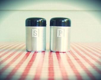 Vintage Kromex Spun Aluminum Salt and Pepper Shakers in SHARP Condition!
