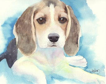 Beagle Puppy Painting