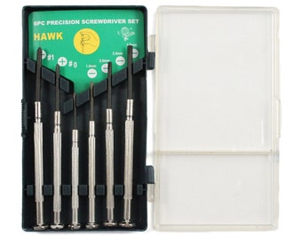 13pc Precision Screwdriver & Hex Key Tool Set Flat Head Phillips with Storage Box