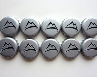 Set of 10 Coors beer bottlecaps for crafts, jewelry,art, magnets, recycle projects, and more