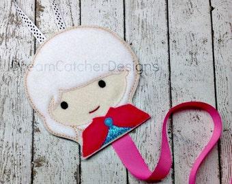 ITH Elna Cold Princess Bow Clippie Clippy Holder Felt Embroidery Design