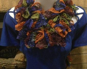 Multicolor ruffle scarf