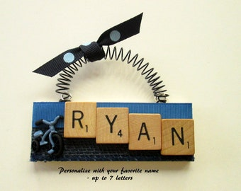 Personalized Trike Scrabble Tile Ornament