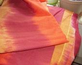 Price Reduced: 5.5+ yd Sunset Cotton; Yellow/Orange/Maroon Ombre (Fabric Yardage De-stash)