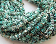"1. Strand 36"" Turquoise Rough Beads 8X5 To 3X3 100% Natural Fine AAA Quality  Wholesale Price New Arrival"