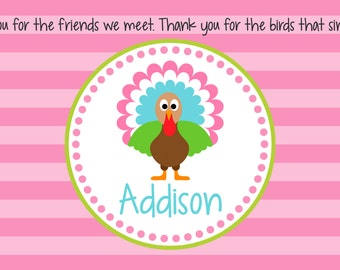 Personalized Placemat - Kids Placemat - Childrens Placemat - Prayer Placemat - Thanksgiving Placemat - Turkey Girl