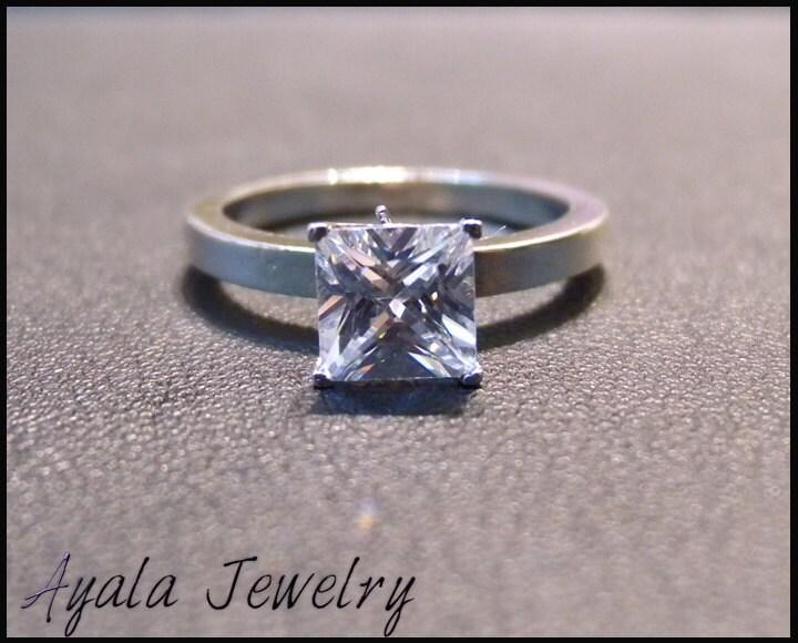 1ct Princess Cut Diamond Ring,Wedding Rings, Engagment Ring,Israel,Princess Cut Ring,Eternity Ring,14K Gold Ring,Handmade Ring,Ayala Jewelry