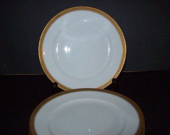 China, German salad plates,  bread and butter , K P M Krister Germany 8 pieces  gold banded , fine china.