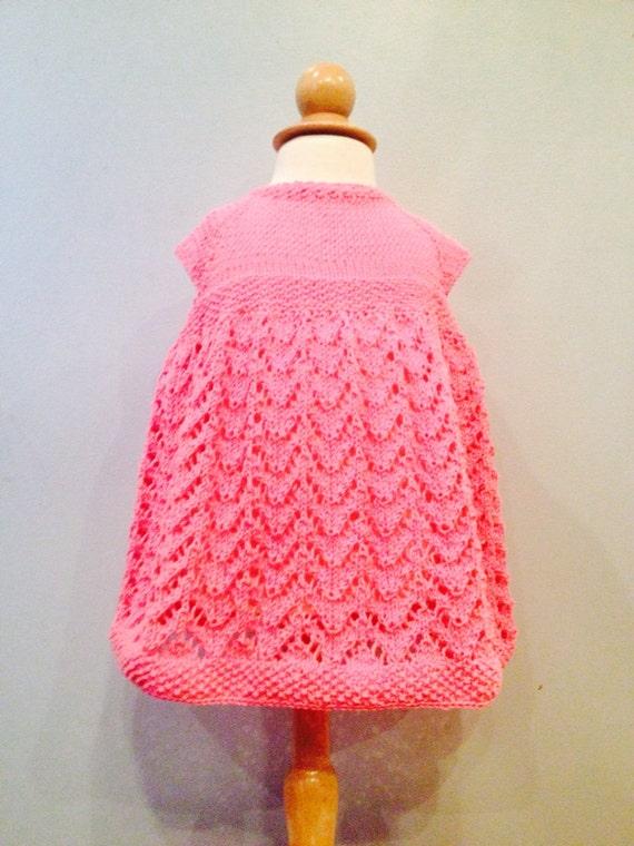 hnliche artikel wie hand stricken pretty in pink baby. Black Bedroom Furniture Sets. Home Design Ideas