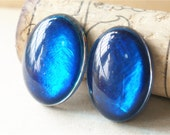 4 Pcs Blue Cabochons Resin Beads DIY Jewelry Making Finding #R223