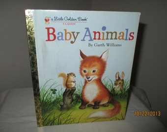 """SALE - Vintage Little Golden Book """"Baby Animals"""""""