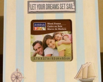 3x3 Let your dreams sail - Wooden Frame - free shipping
