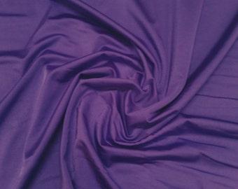 "Purple - Plain Lycra Spandex Stretch Fabric Material - 150cm (59"") wide per metre / half"