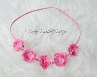Pink Mini Flowers Baby Headband,Girl Headband