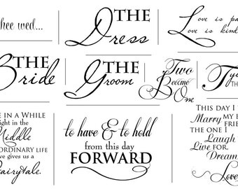 Artful Words Overlays- SET OF 50