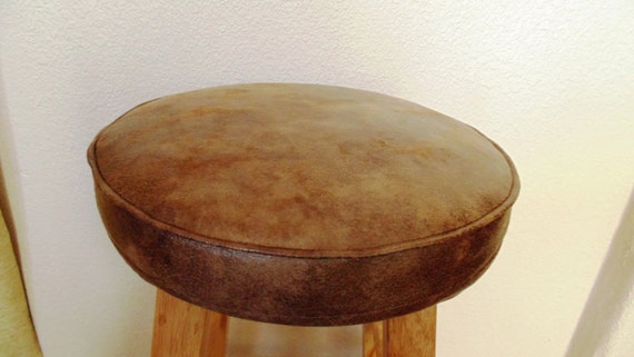 Bar Stool Cushion CoverLight Brown Faux Leather 1213 by  : il570xN583770958t1rc from etsy.com size 570 x 321 jpeg 33kB