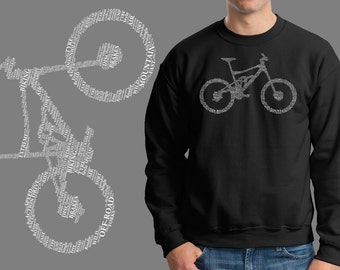 Bicycle Parts Sweatshirt Jersey Fleece Bike Parts Name Cool Bicycle Riding Sweatshirt Sweater