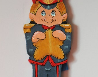 Tole Pinted Wood Soldier Ornament