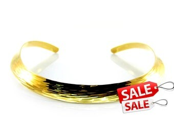 Gold Choker Nacklace Gold Collar Necklace Hammered Gold Necklace Brass Choker Necklace Gold Brass Necklace Gold Hammered Necklace 068