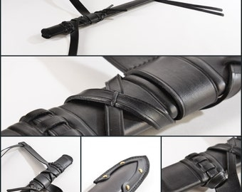 Authentic Leather Scabbard Sheath/The scabbards are made of wood and are coated with genuine, premium quality leather, CUSTOM, made to order