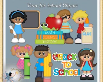 Time for School Clipart