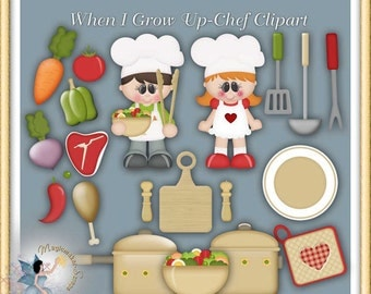 Chef Clipart, Cooking, When I Grow Up