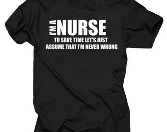 I Am A Nurse T-Shirt Gift For Nurse Profession Tee Shirt