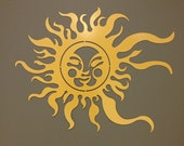 Summer Sun Metal Wall and Garden Art 36x24""