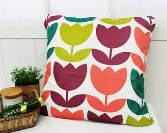 "Oxford Cotton Fabric 6.77"" (17 cm) Big Tulip"