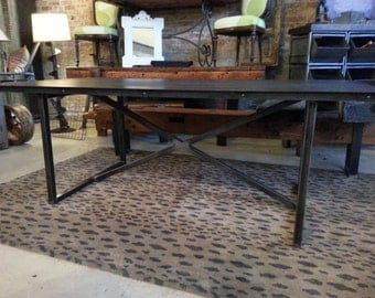 Unique Steel Dining Table Custom Sizes Available