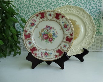 Vintage Syracuse China Old Ivory Pattern also known as Romance 8 inch Salad Plate. Made in the USA.