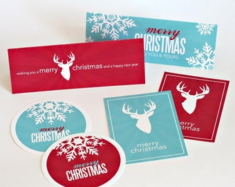 Christmas treat topper with bonus m atching tags printable digital