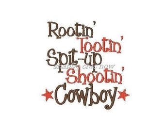 Rootin' Tootin' Spit-up Shootin' Cowboy Kids or Babies T-shirts or Bodysuit Your Choice Baby Shower Gift