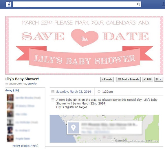 Birthday Party Event Facebook Banner Save The Date By