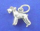 SCHNAUZER Charm .925 Sterling Silver, Miniature Small Dog Charm