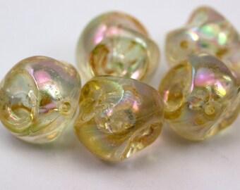 5 pcs Vintage Transparent Lucite Beads , 28 mm Plastic Bead , Jewelry Supplies  - bk366