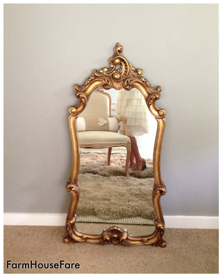 Large Ornate Mirror Gold Mirrors Hollywood Regency Baroque